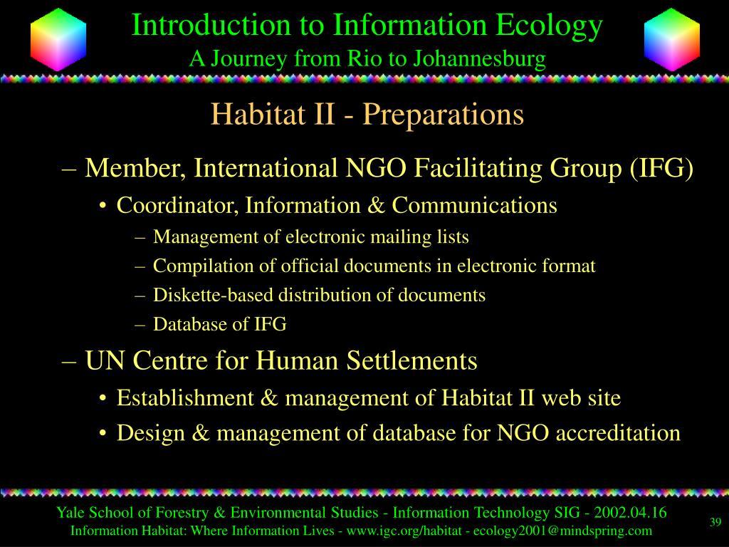 Habitat II - Preparations
