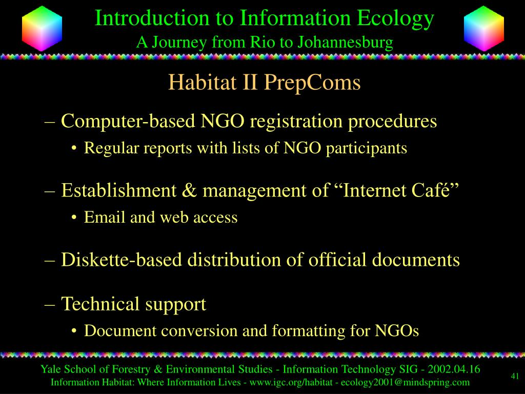 Habitat II PrepComs