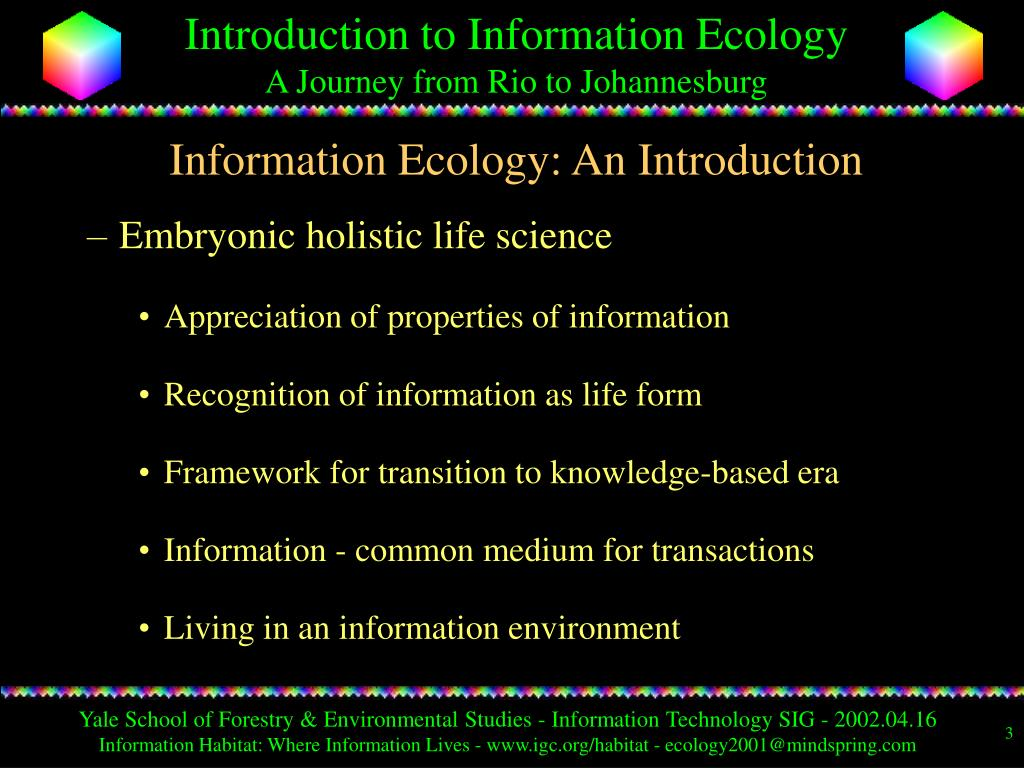 Information Ecology: An Introduction