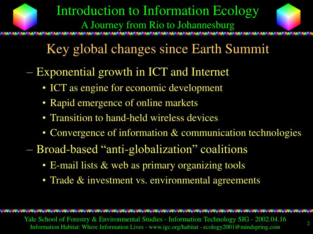 Key global changes since Earth Summit