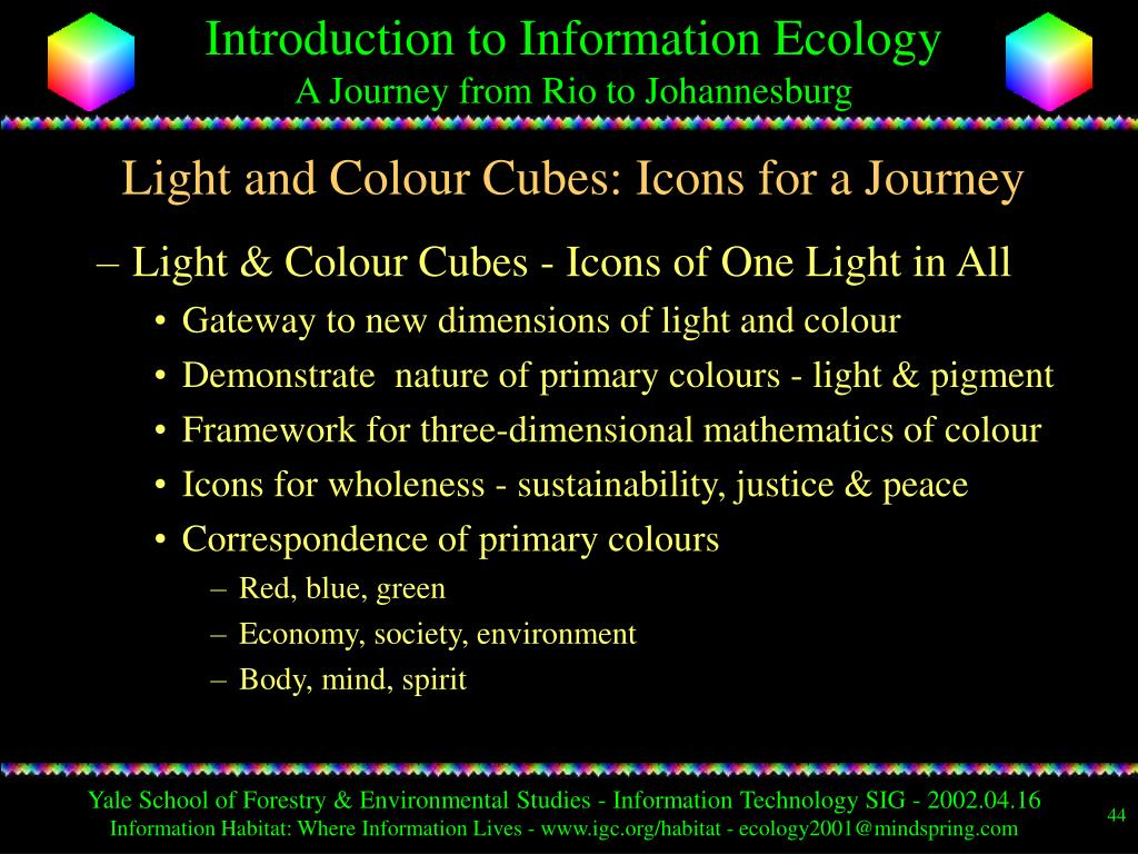 Light and Colour Cubes: Icons for a Journey