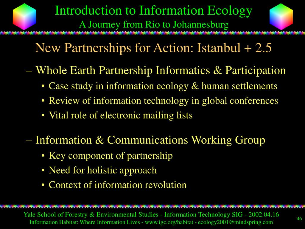 New Partnerships for Action: Istanbul + 2.5