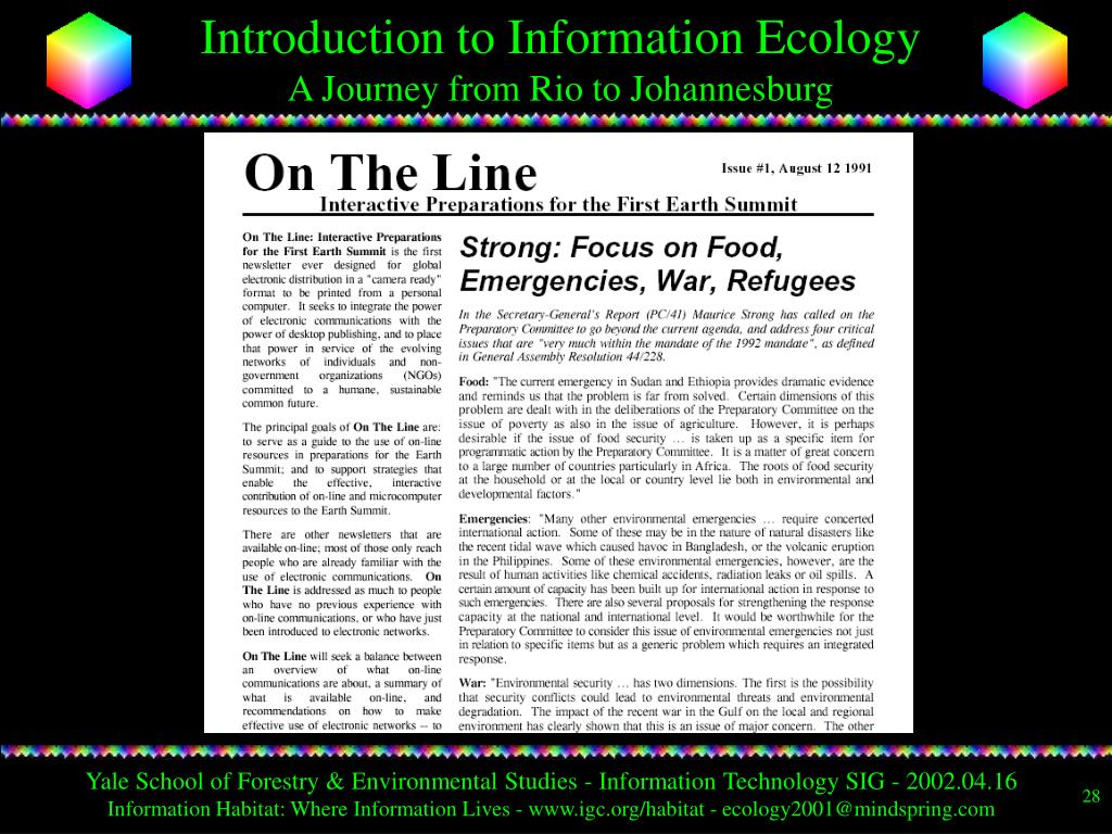 Yale School of Forestry & Environmental Studies - Information Technology SIG - 2002.04.16