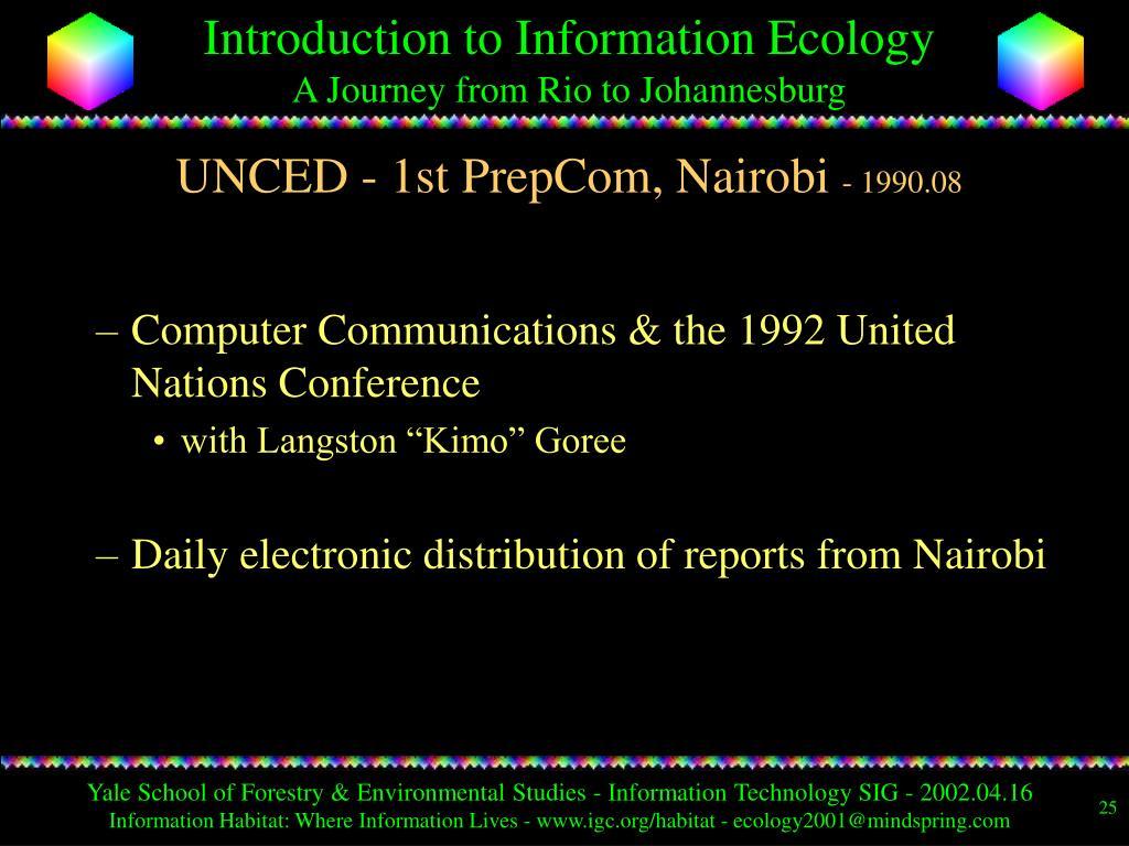 UNCED - 1st PrepCom, Nairobi