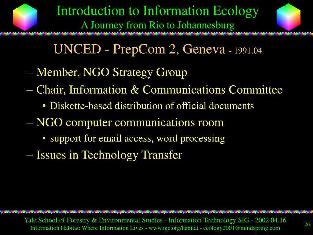 UNCED - PrepCom 2, Geneva