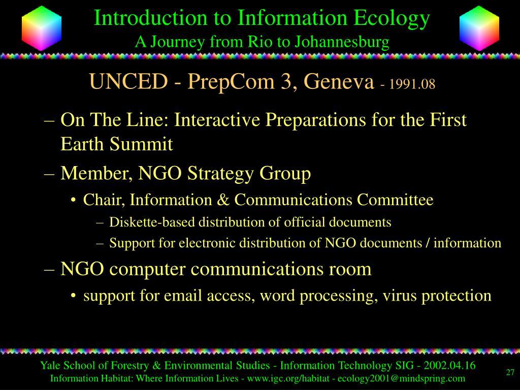 UNCED - PrepCom 3, Geneva