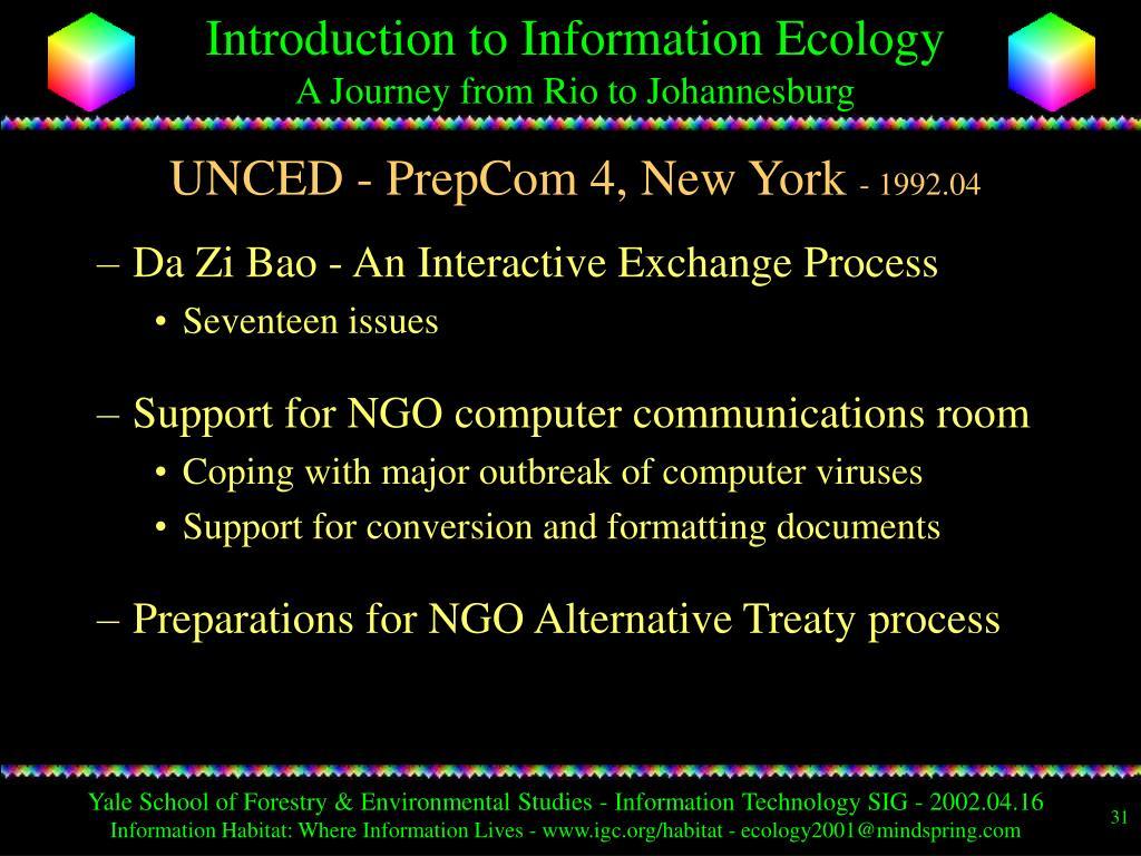 UNCED - PrepCom 4, New York