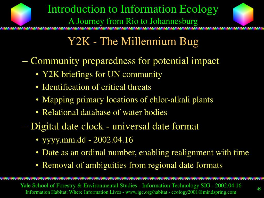 Y2K - The Millennium Bug