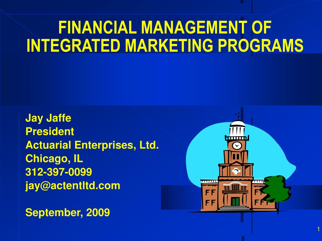 financial management of integrated marketing programs l.