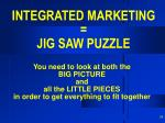 integrated marketing jig saw puzzle