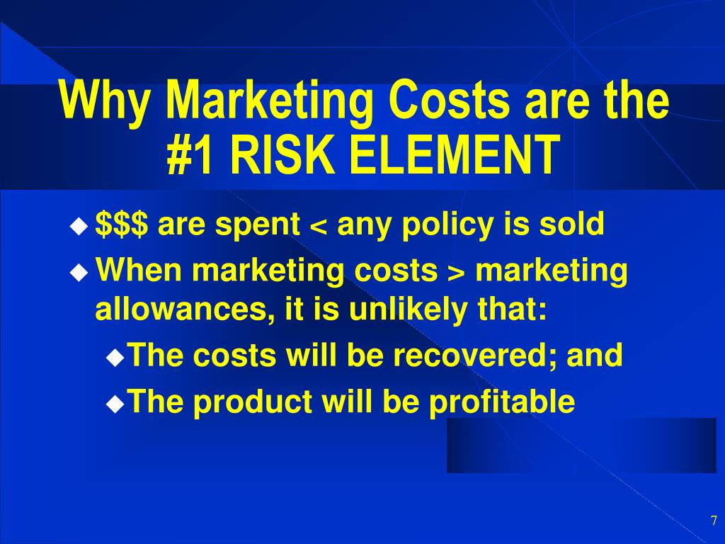 Why Marketing Costs are the