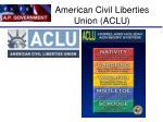american civil liberties union aclu