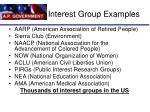 interest group examples