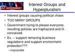 interest groups and hyperpluralism