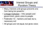 interest groups and pluralism theory