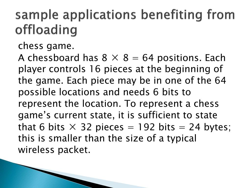sample applications benefiting from offloading