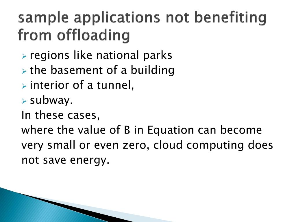 sample applications not benefiting from offloading