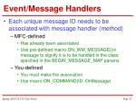 event message handlers