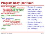 program body part four