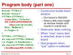 program body part one11