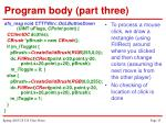 program body part three13