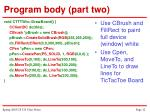 program body part two12