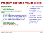 program captures mouse clicks