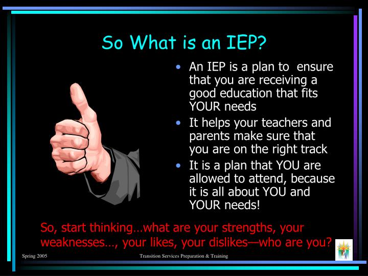 So what is an iep