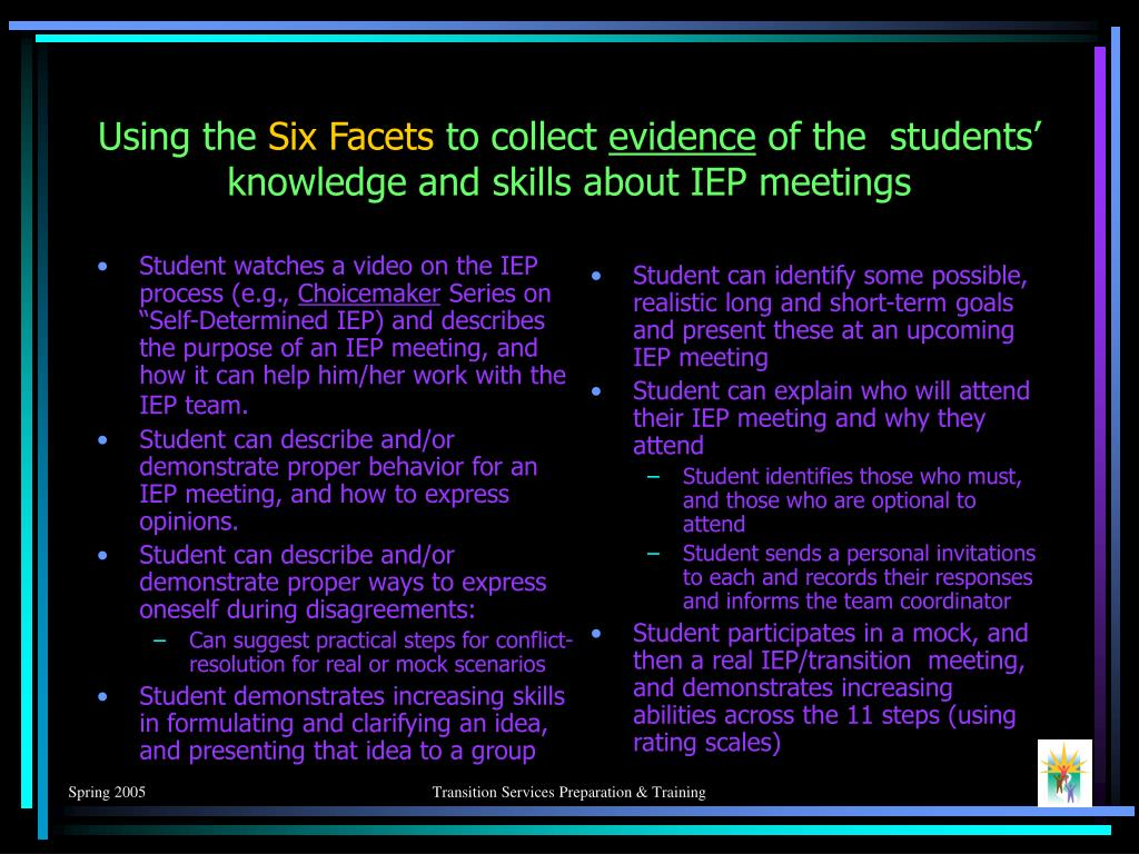 Student watches a video on the IEP process (e.g.,