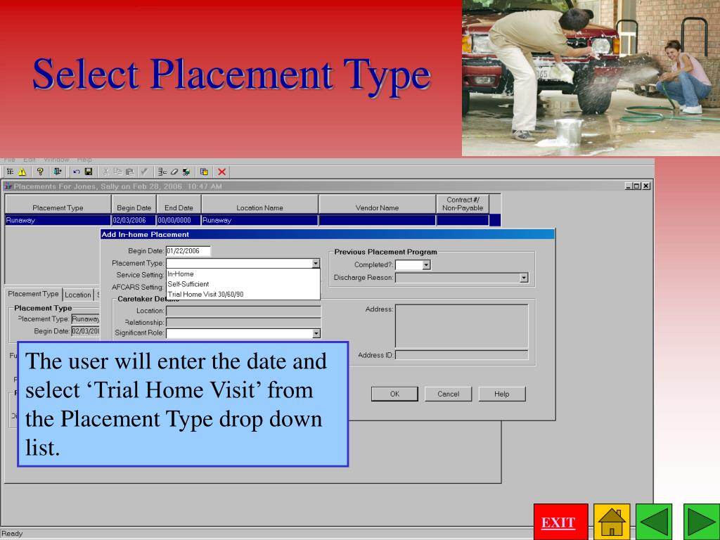 Select Placement Type