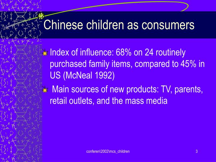 Chinese children as consumers3