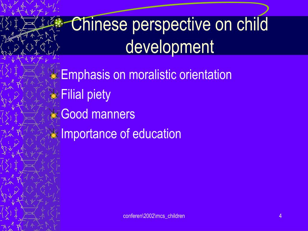 Chinese perspective on child development
