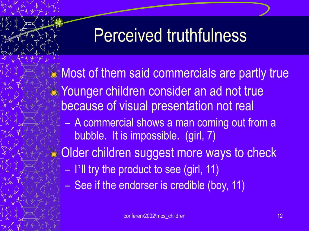 Perceived truthfulness