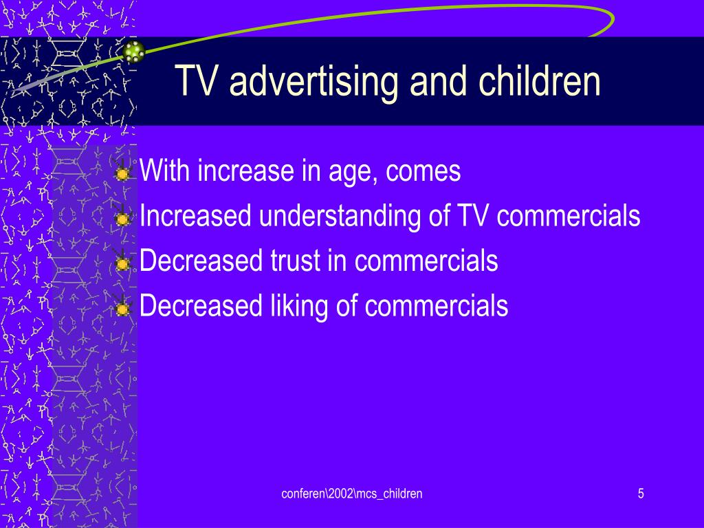 TV advertising and children