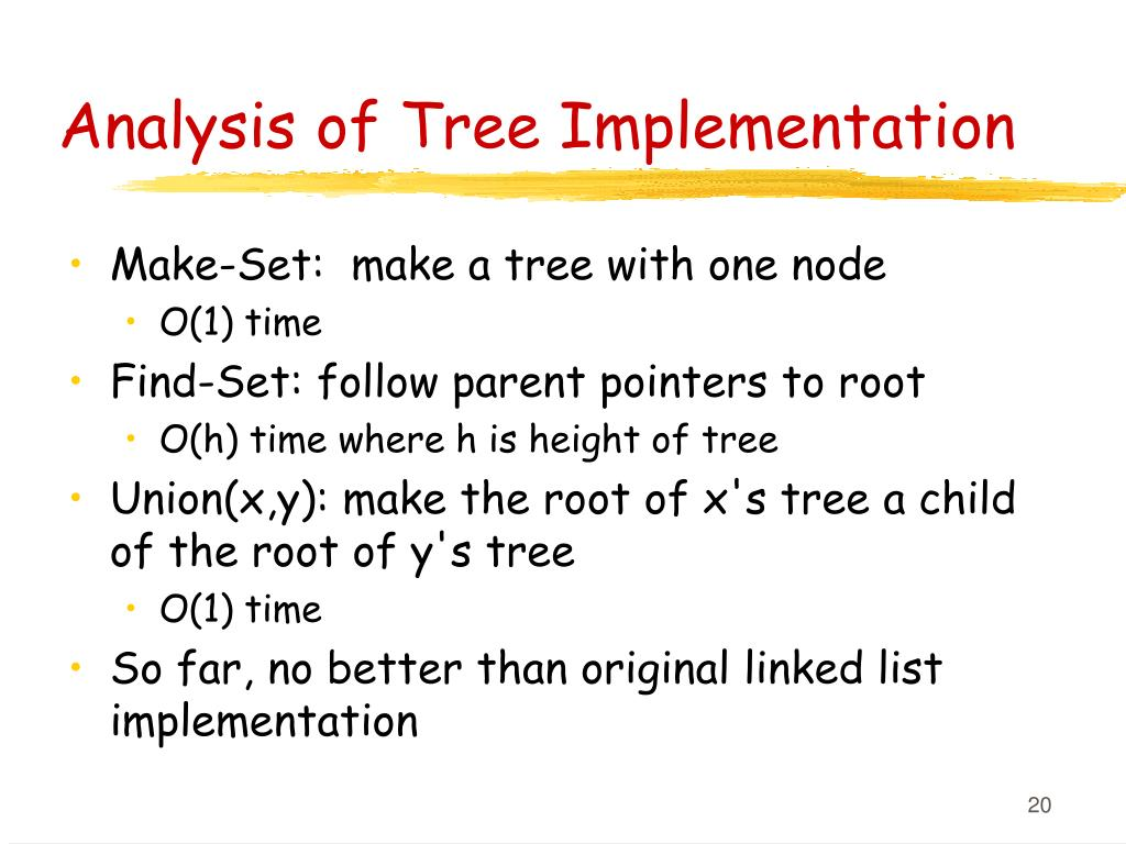 Analysis of Tree Implementation