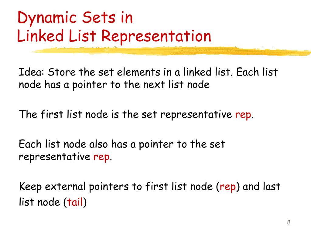 Dynamic Sets in