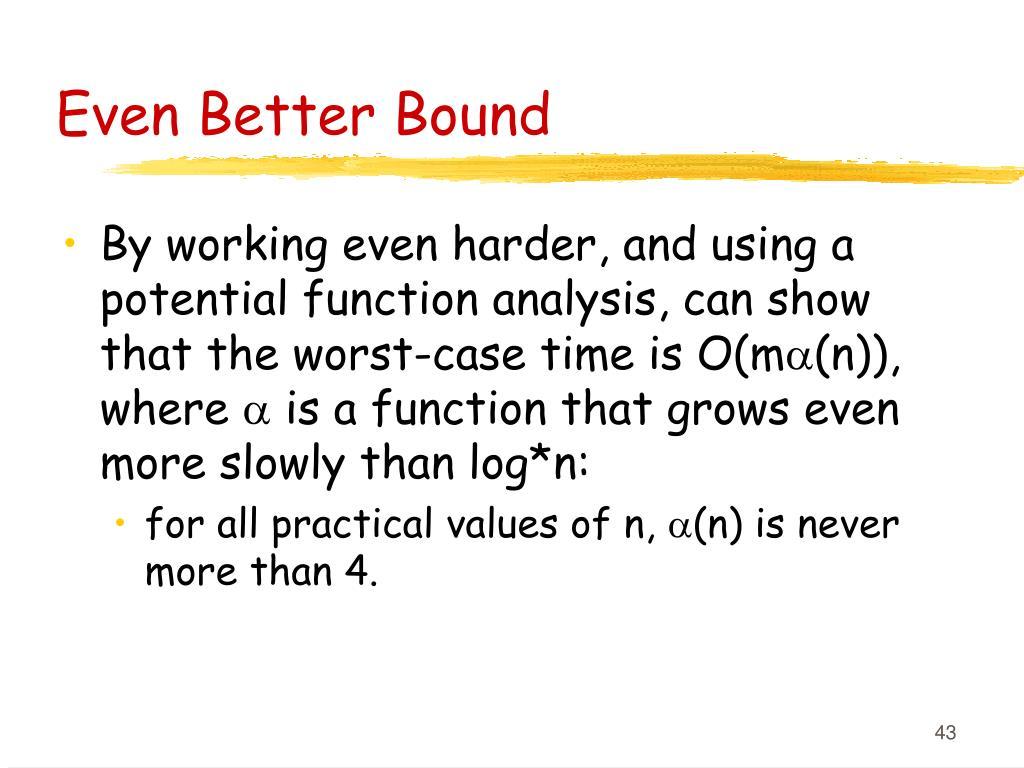 Even Better Bound