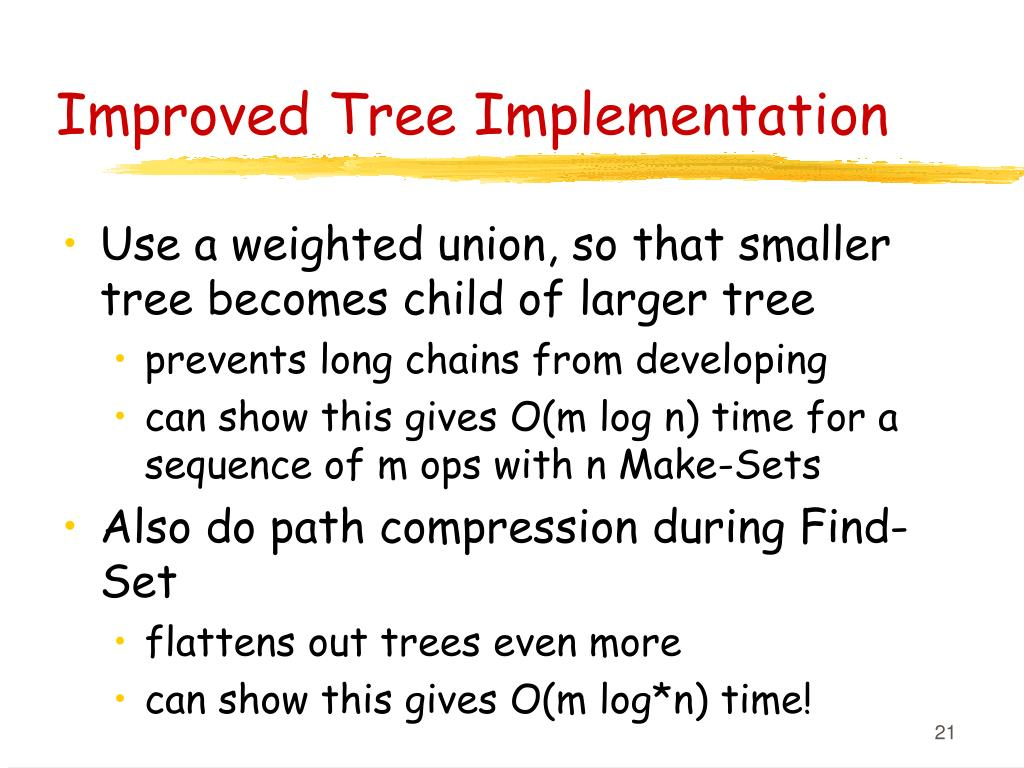 Improved Tree Implementation
