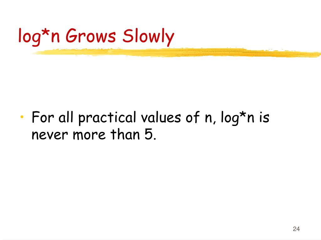 log*n Grows Slowly