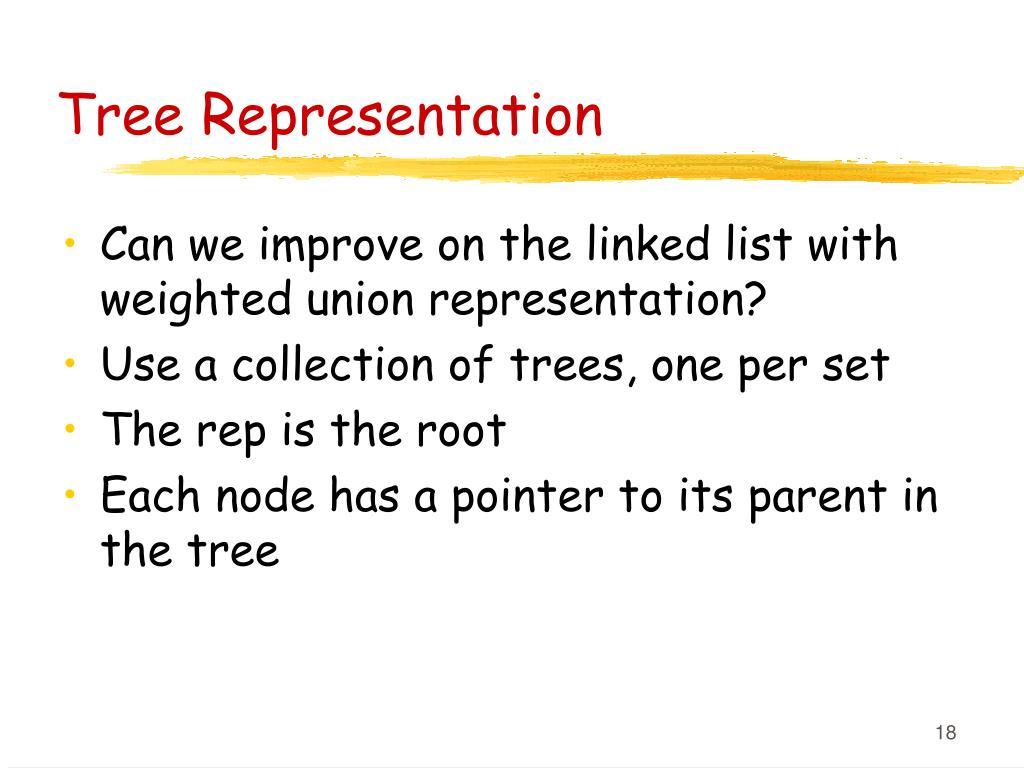Tree Representation