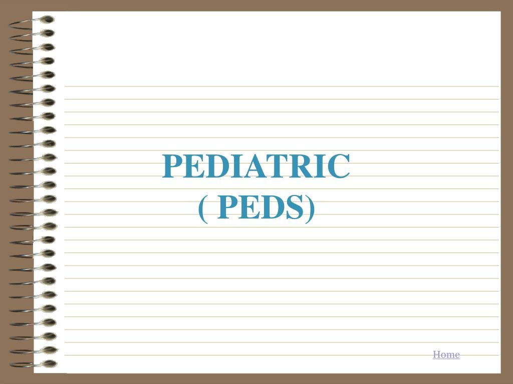 pediatric peds l.
