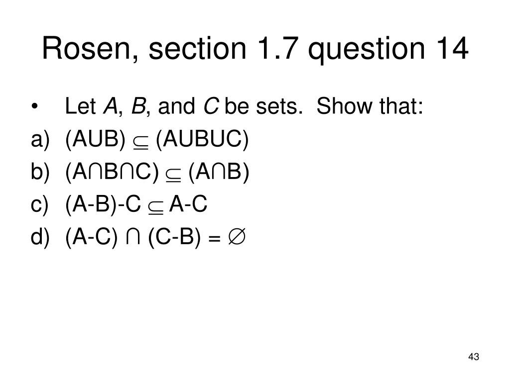 Rosen, section 1.7 question 14
