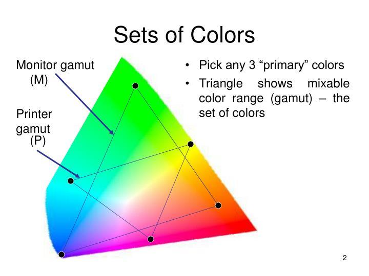 Sets of colors