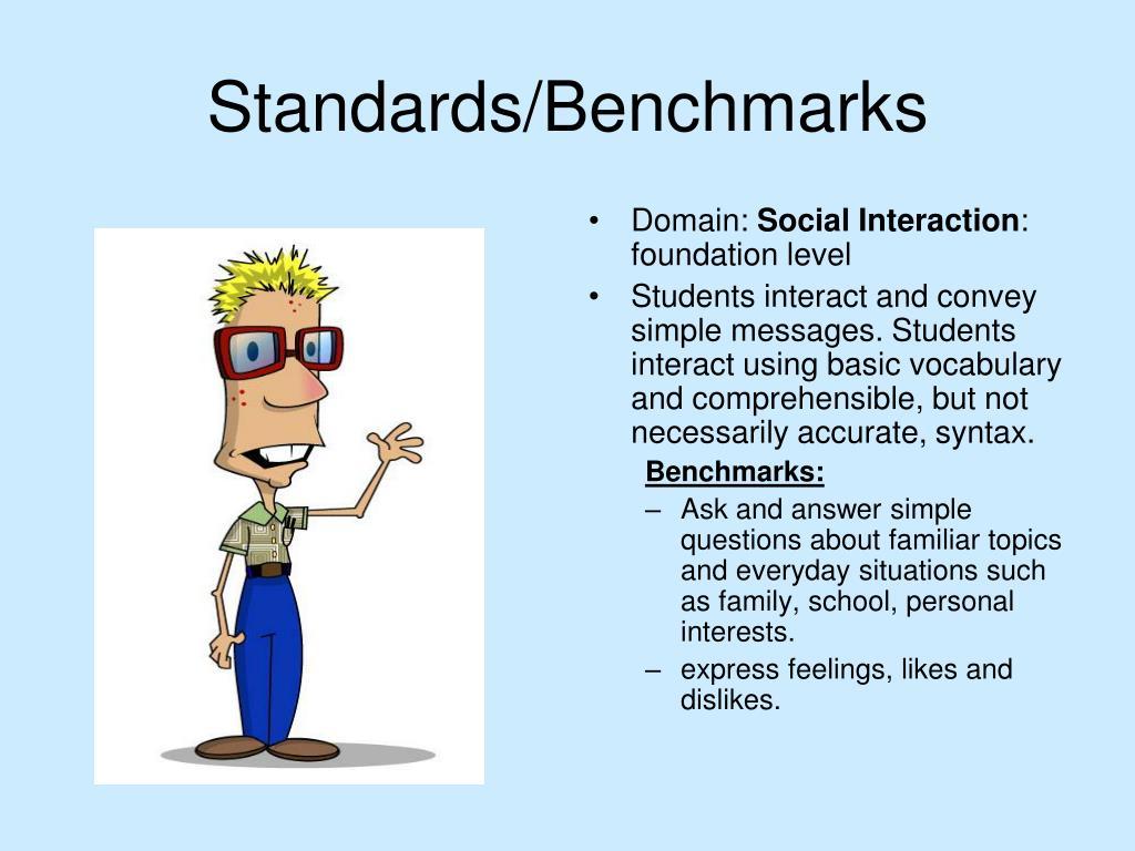 Standards/Benchmarks