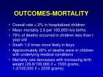 outcomes mortality