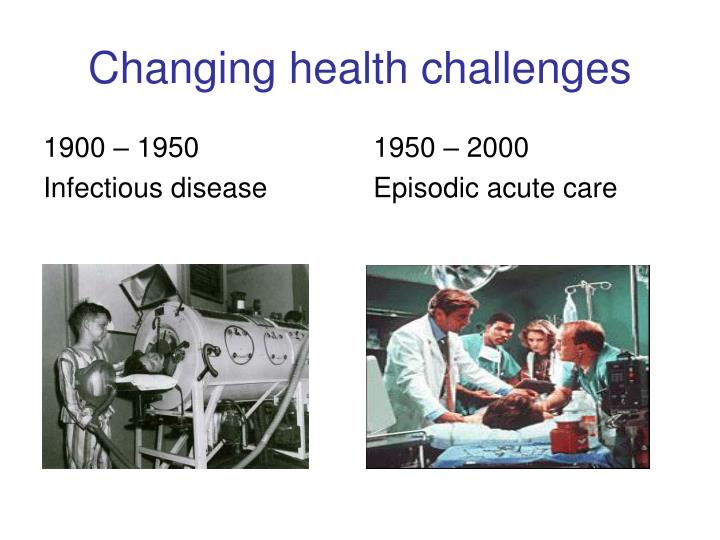 Changing health challenges