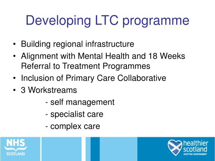 Developing LTC programme