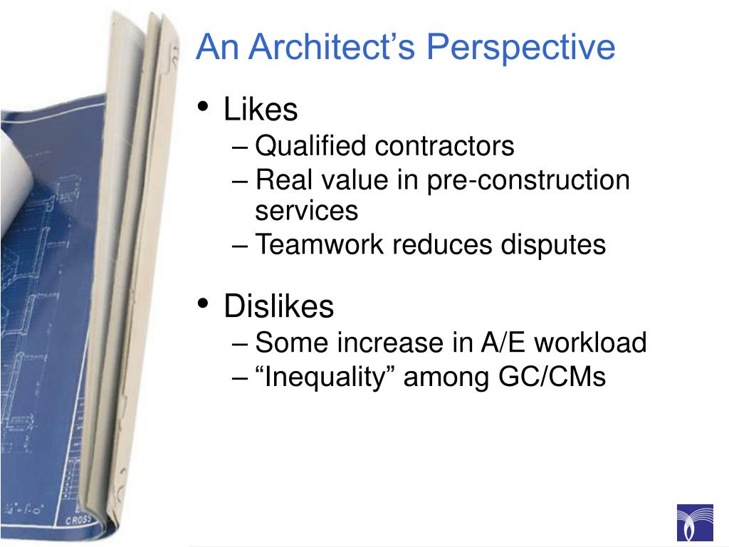 An Architect's Perspective