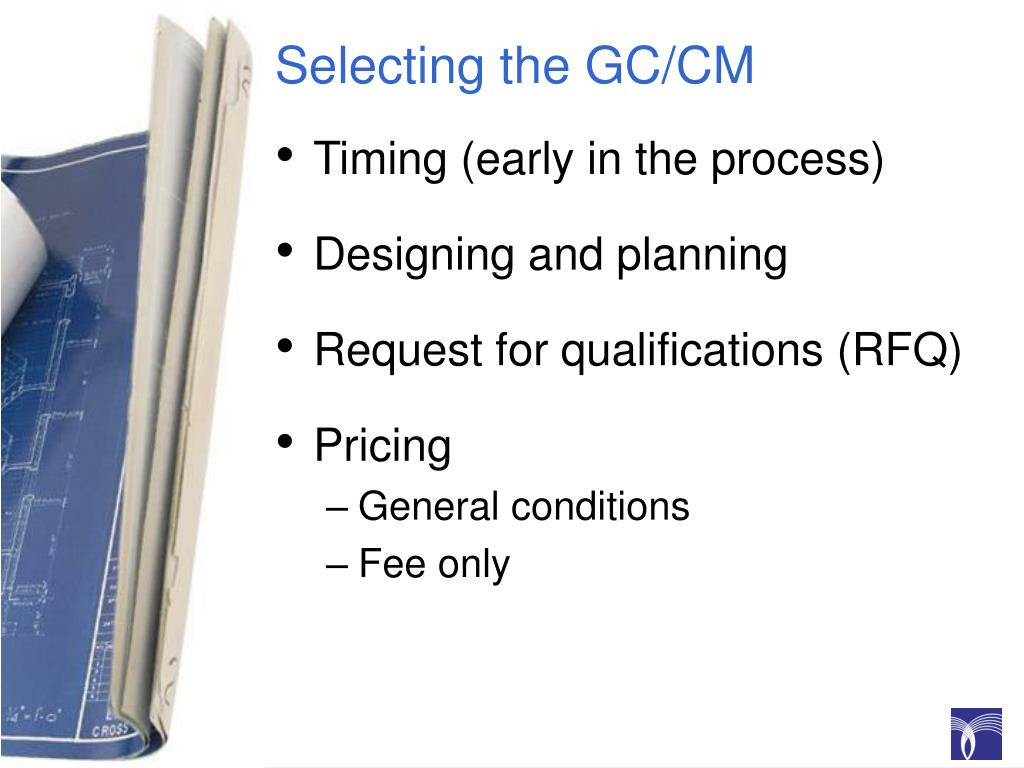 Selecting the GC/CM
