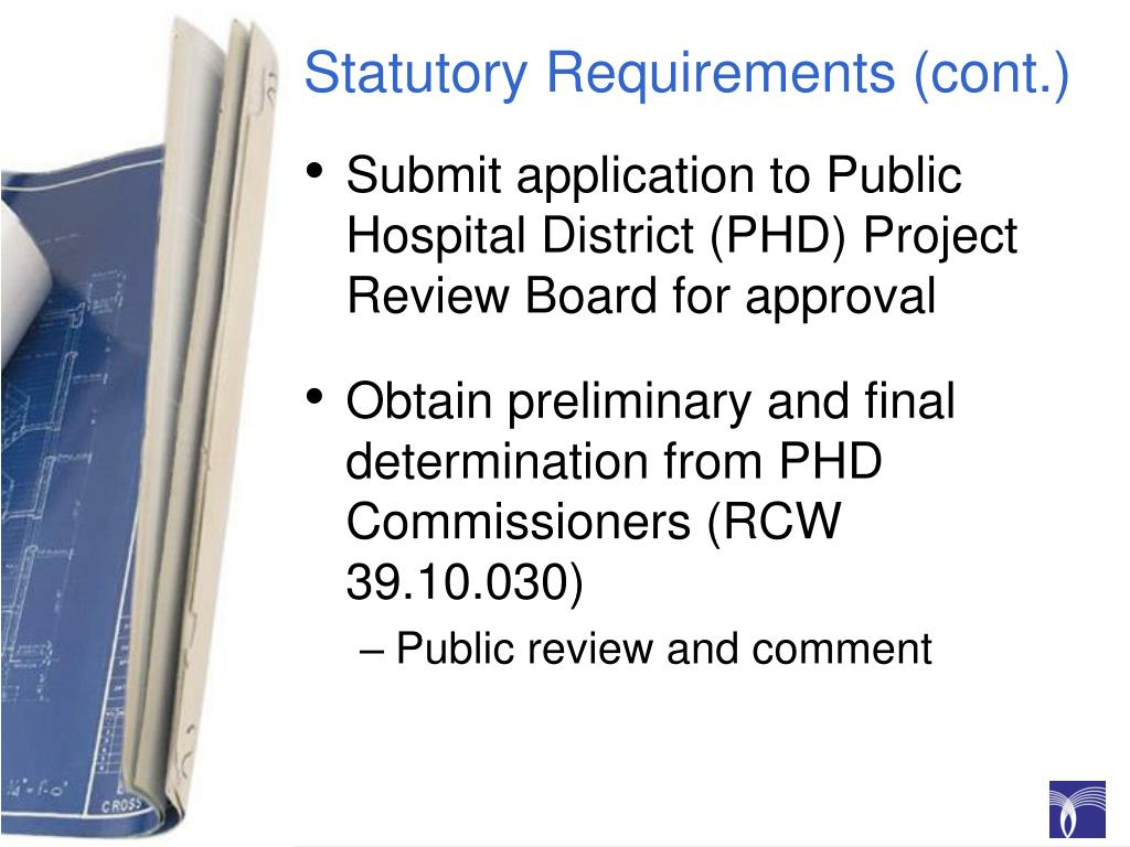 Statutory Requirements (cont.)